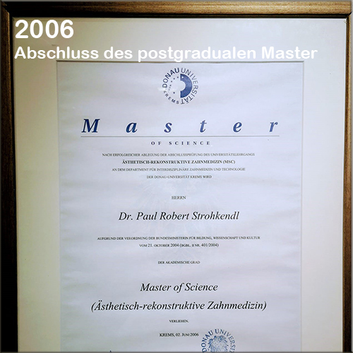 Master-of-Science-Zahnarzt Strohkendl Zahnarzt Stuttgart